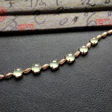 冰种晴水翡翠手链 镶白金钻石