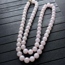 紫罗兰糯冰种圆珠翡翠项链