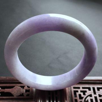 紫罗兰冰种翡翠手镯