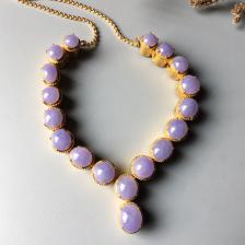 糯冰种紫罗兰翡翠项链面