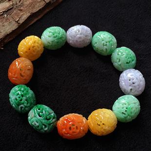 三色翡翠手链的的同颜色搭配各代表什么?