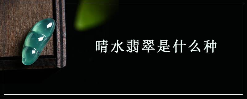 晴水翡翠是什么種