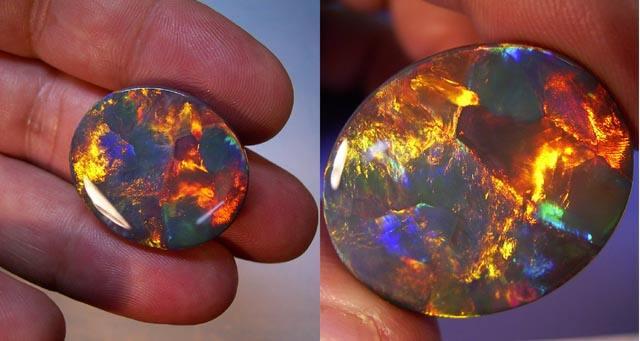 """""""处女彩虹""""欧泊石和日落火欧泊哪个在价值上更高?"""