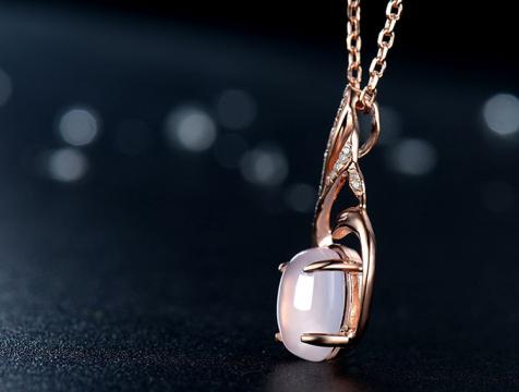 天然芙蓉石925银凤凰吊坠配项链