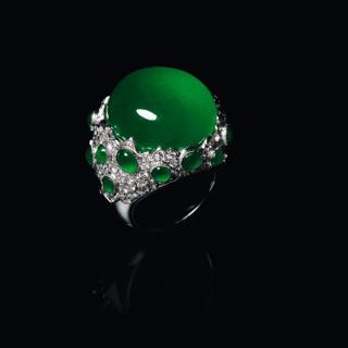 翡翠玻璃种戒指款式