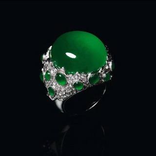 玻璃种翡翠戒指价格