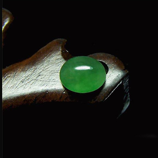 老坑冰种飘阳绿翡翠戒面的价格