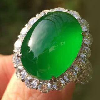 高冰阳绿翡翠戒指样式