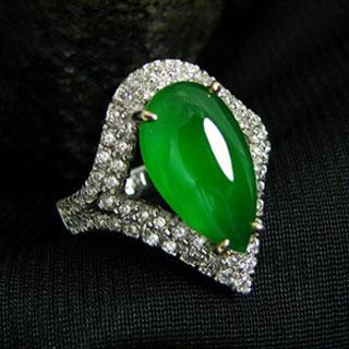 阳绿冰种翡翠戒指好不好