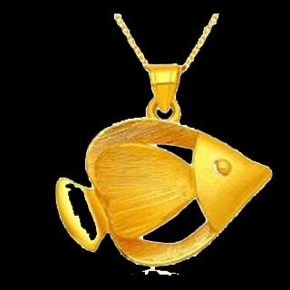 黄金金鱼吊坠寓意
