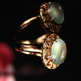 冰种翡翠戒指镶嵌银好吗