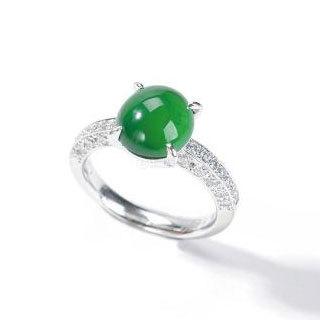 冰种正阳绿戒指价格
