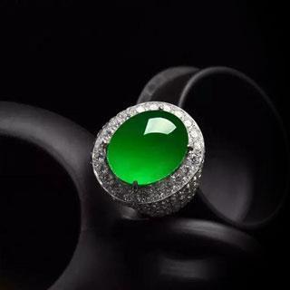 翡翠戒指阳绿多少钱
