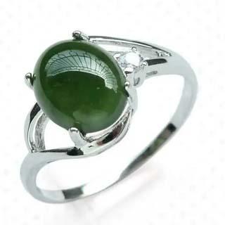银镶碧玉戒指值多少钱