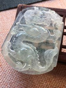 高冰仿古龙牌 尺寸55.8/45/7.2,冰透 釉洁 起胶 完美