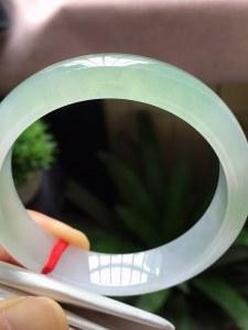 结缘,圈口54.6,正圈手镯,小圈,种水好,冰润,起胶,绿底,超值推荐,完美,尺寸54.6-13.1-7.2mm