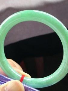 特惠,圈口53.5,圆条手镯,小圈口,玉质水润,满绿底,上手清新,性价比高,完美,尺寸53.5-8.7-8.3mm