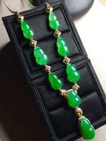 正阳绿葫芦晚装项链,裸石:20-13.4-5