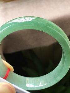 特惠,圈口54.6,正圈手镯,小圈,种水好,冰油绿,超值推荐,尺寸54.6-13.8-7.1mm