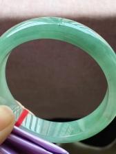 油青正圈翡翠手镯,完美,种老水足,尺寸58/13.8/8.2mm,特惠