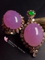 超值,美极了❤【套装,紫罗兰】通透,水润,完美,18k金华奢钻镶石嵌☕