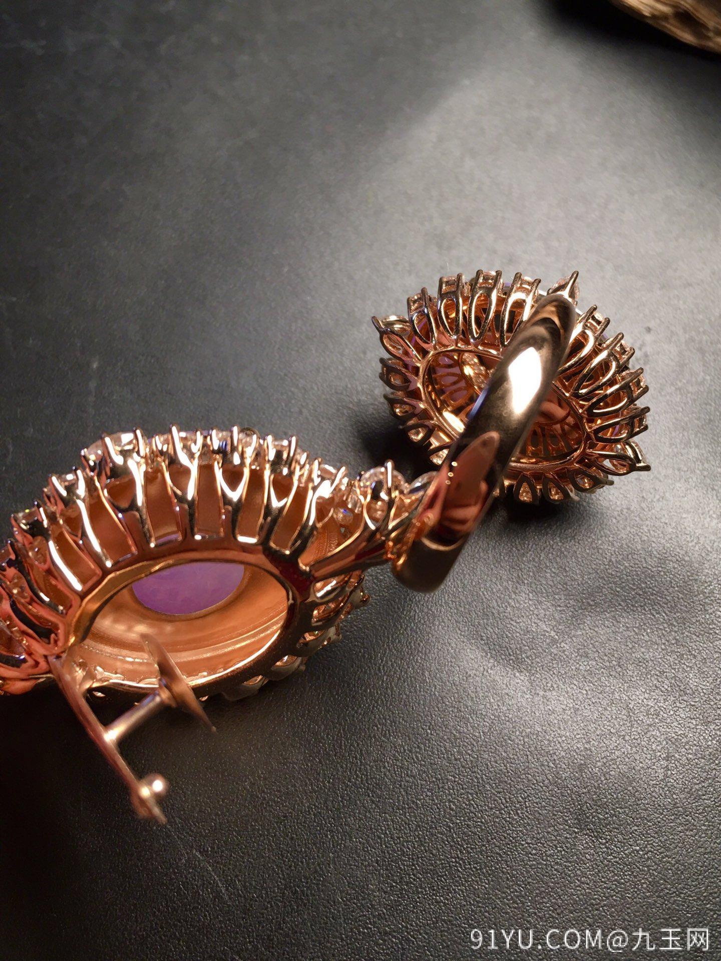 超值,美极了❤【套装,紫罗兰】通透,水润,完美,18k金华奢钻镶石嵌☕第6张