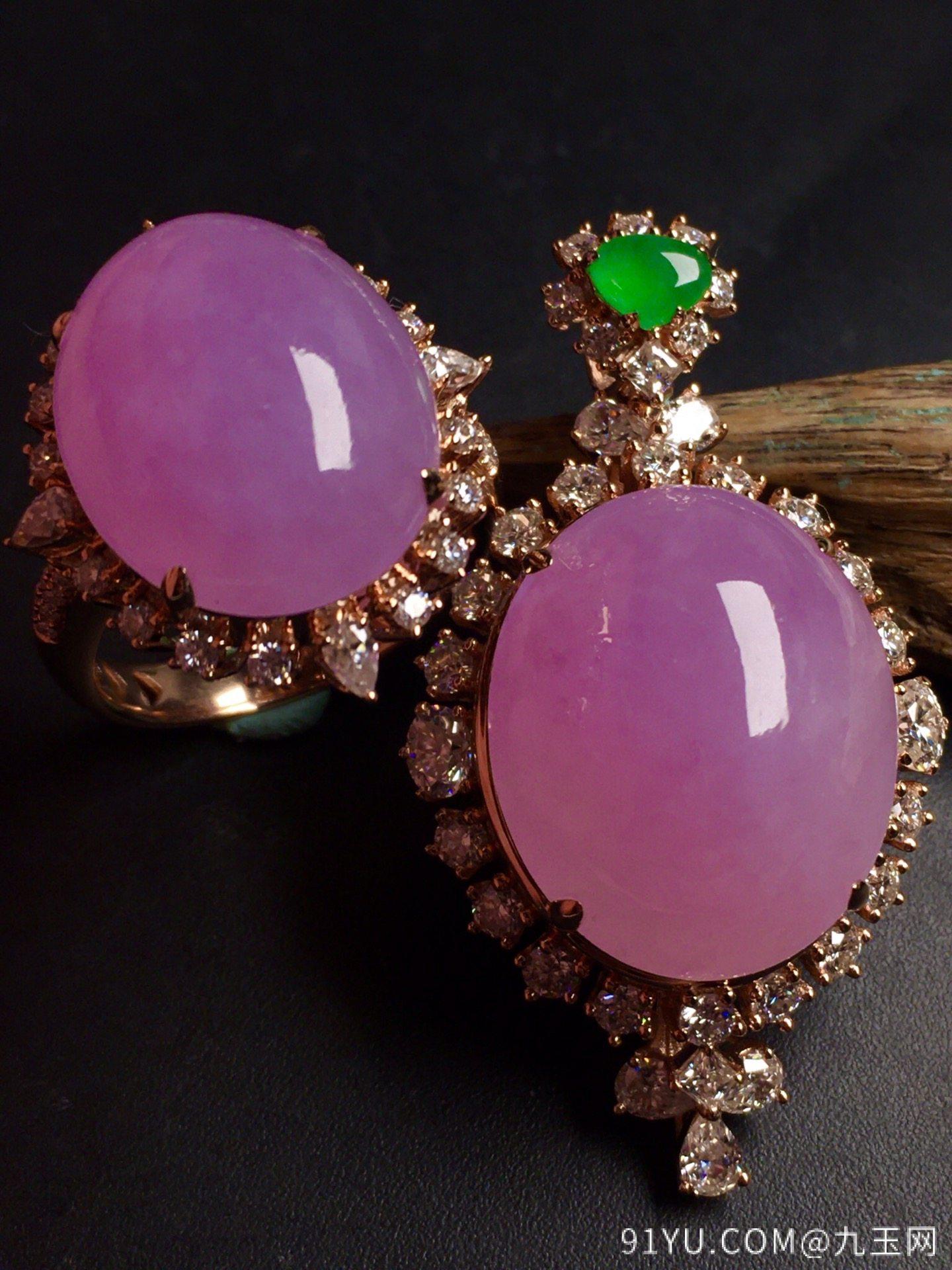 超值,美极了❤【套装,紫罗兰】通透,水润,完美,18k金华奢钻镶石嵌☕第5张