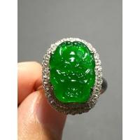 冰种正阳绿龙头戒指,霸气十足