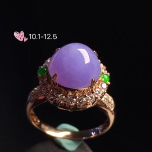 【紫罗兰】通透,水润细腻,完美,18k金华奢钻镶石嵌☕