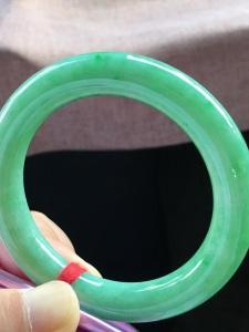 特惠,圈口54,圆条手镯,小圈口,玉质细腻水润,性价比高,完美,尺寸54-10.8mm