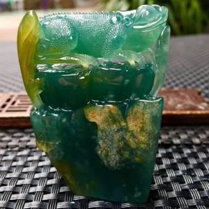 蜥蜴摆件___吸亿 .极致蓝水.完美 尺寸:48.6-58.5-20.4 特惠